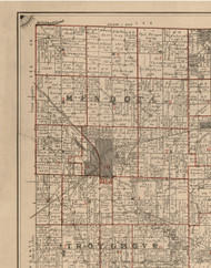 Mendota, Illinois 1895 Old Town Map Custom Print - LaSalle Co.