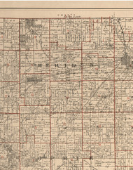 Meriden, Illinois 1895 Old Town Map Custom Print - LaSalle Co.