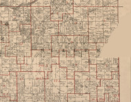 Miller, Illinois 1895 Old Town Map Custom Print - LaSalle Co.
