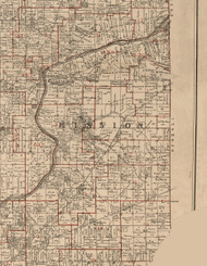 Mission, Illinois 1895 Old Town Map Custom Print - LaSalle Co.