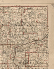 Northville, Illinois 1895 Old Town Map Custom Print - LaSalle Co.