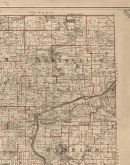 Northville, Illinois 1895 Old Town Map Custom Print - LaSalle Co.