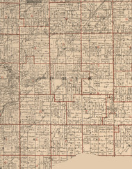 Ophir, Illinois 1895 Old Town Map Custom Print - LaSalle Co.