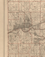 Peru LaSalle, Illinois 1895 Old Town Map Custom Print - LaSalle Co.
