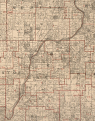 Rutland, Illinois 1895 Old Town Map Custom Print - LaSalle Co.