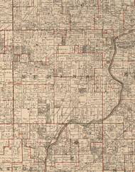 Serena, Illinois 1895 Old Town Map Custom Print - LaSalle Co.