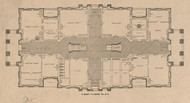 LaSalle Co Courthouse Floor Plan 1 - LaSalle Co., Illinois 1895 Old Town Map Custom Print - LaSalle Co.