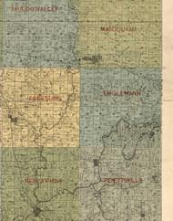 Englemann, Illinois 1899 Old Town Map Custom Print - St. Clair Co.