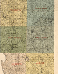 Fayetteville, Illinois 1899 Old Town Map Custom Print - St. Clair Co.