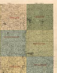 Lebanon, Illinois 1899 Old Town Map Custom Print - St. Clair Co.