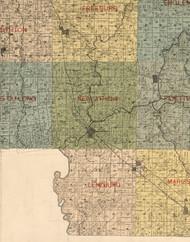 Lenzburg, Illinois 1899 Old Town Map Custom Print - St. Clair Co.