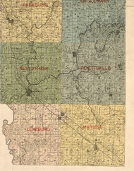 Marissa, Illinois 1899 Old Town Map Custom Print - St. Clair Co.