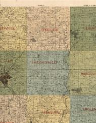 Ofallon, Illinois 1899 Old Town Map Custom Print - St. Clair Co.