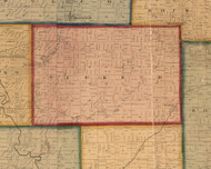 Buckeye, Illinois 1859 Old Town Map Custom Print - Stephenson Co.