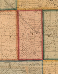 Erin, Illinois 1859 Old Town Map Custom Print - Stephenson Co.