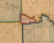 Freeport, Illinois 1859 Old Town Map Custom Print - Stephenson Co.
