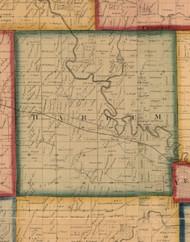 Harlem, Illinois 1859 Old Town Map Custom Print - Stephenson Co.