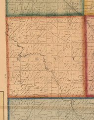 Kent, Illinois 1859 Old Town Map Custom Print - Stephenson Co.