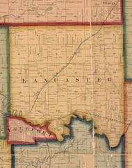 Lancaster, Illinois 1859 Old Town Map Custom Print - Stephenson Co.