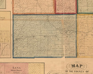 Loran, Illinois 1859 Old Town Map Custom Print - Stephenson Co.