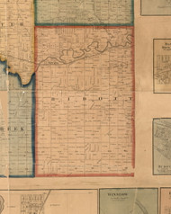 Ridott, Illinois 1859 Old Town Map Custom Print - Stephenson Co.