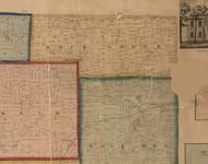 Rock Grove, Illinois 1859 Old Town Map Custom Print - Stephenson Co.
