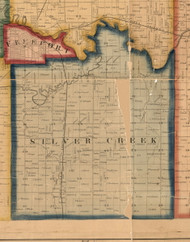 Silver Creek, Illinois 1859 Old Town Map Custom Print - Stephenson Co.