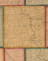 Waddam, Illinois 1859 Old Town Map Custom Print - Stephenson Co.