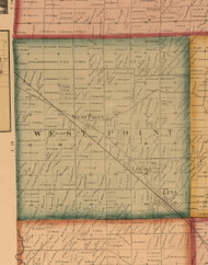 West Point, Illinois 1859 Old Town Map Custom Print - Stephenson Co.