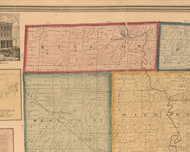 Winslow, Illinois 1859 Old Town Map Custom Print - Stephenson Co.