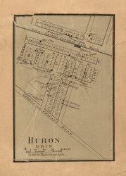 Erin & Huron Villages - Stephenson Co., Illinois 1859 Old Town Map Custom Print - Stephenson Co.