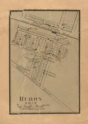 Erin & Huron Villages - Stephenson Co., Illinois 1859 Old Town Map Custom Print - Stephenson Co.