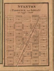 Florence & Loran & Stanton Villages - Stephenson Co., Illinois 1859 Old Town Map Custom Print - Stephenson Co.