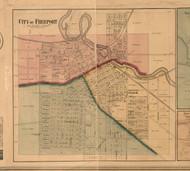Freeport Village - Stephenson Co., Illinois 1859 Old Town Map Custom Print - Stephenson Co.