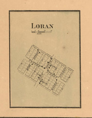Loran Village - Stephenson Co., Illinois 1859 Old Town Map Custom Print - Stephenson Co.