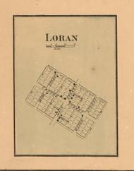 Loran Village - Stephenson Co., Illinois 1859 Old Town Map Custom Print - Stephenson Co.
