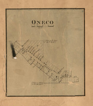 Oneco Village - Stephenson Co., Illinois 1859 Old Town Map Custom Print - Stephenson Co.