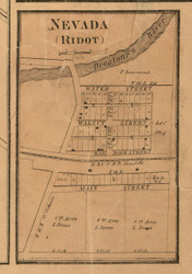 Nevada Village - Stephenson Co., Illinois 1859 Old Town Map Custom Print - Stephenson Co.