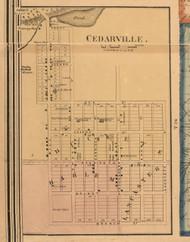 Cedarville Village - Stephenson Co., Illinois 1859 Old Town Map Custom Print - Stephenson Co.