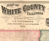 Title of Source Map - White Co., Illinois 1871 Old Town Map Custom Print - White Co.