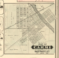 Carmi Village - White Co., Illinois 1871 Old Town Map Custom Print - White Co.