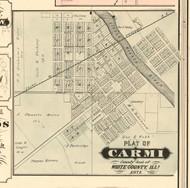 Carmi Village - White Co., Illinois 1871 Old Town Map Custom Print - White Co.