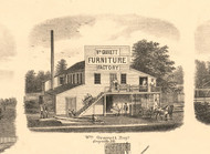 Gavett Furniture Factory Grayville - White Co., Illinois 1871 Old Town Map Custom Print - White Co.