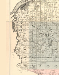 Albany, Illinois 1896 Old Town Map Custom Print - Whiteside Co.