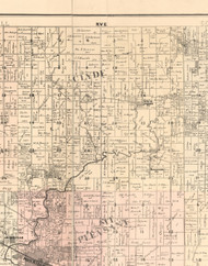 Clyde, Illinois 1896 Old Town Map Custom Print - Whiteside Co.