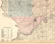 Erie, Illinois 1896 Old Town Map Custom Print - Whiteside Co.
