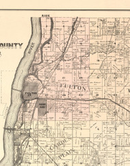 Fulton, Illinois 1896 Old Town Map Custom Print - Whiteside Co.
