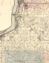 Garden Plain, Illinois 1896 Old Town Map Custom Print - Whiteside Co.