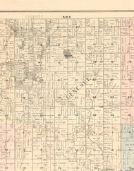 Genesee, Illinois 1896 Old Town Map Custom Print - Whiteside Co.