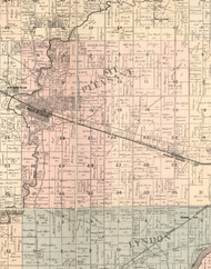 Mt Pleasant, Illinois 1896 Old Town Map Custom Print - Whiteside Co.